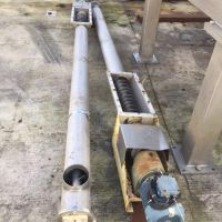 Stainless steel tube screw Ø 170 Length 3300mm