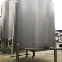 Stainless steel tank 3000 L conical bottom