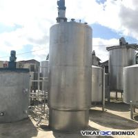 Agitated stainless steel tank 5000 litres