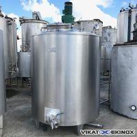 Cuve inox agitée demi-coquille 2000 litres