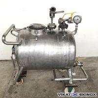 Cuve inox 316L  horizontale 150 litres