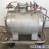 Cuve inox 316 horizontale 343 litres