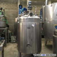PIERRE GUERIN Jacketed mixing st. steel tank 1140 litres