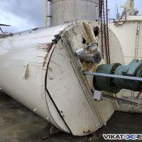Chocolate tank 17m3 total volume, mild steel