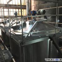 Cuve mélangeuse double enveloppe 6000 litres GOAVEC