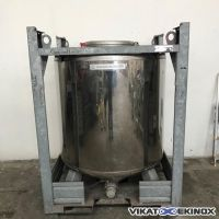 Container inox cylindrique 1000 litres UCON