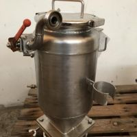 Stainless steel hopper Ø 215 mm H. 400 mm