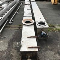 Trough conveyor s/s 316 Ø 270 L 6500 mm