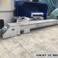 Stainless steel trough conveyor Ø 400