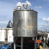 Jacketed S/S Tank with double stirrer 11500 litres total