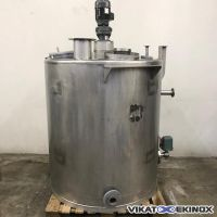 Stainless steel agitated tank 1400 litres