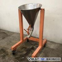 Stainless steel hopper 40 litres