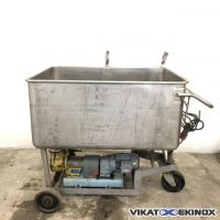 Stainless steel tank 635 litres with drain pump