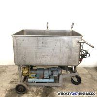 Bac inox 635 litres et pompe de vidange