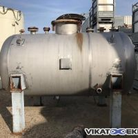 Stainless steel 316 horizontal tank 3300 L