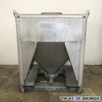 Container inox GALLAY 1260 litres