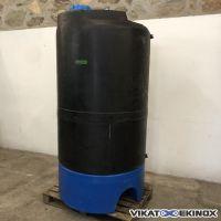 Plastic tank black PE 1500 litres