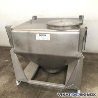 Container inox poudre MATCON 500 litres