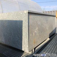 DENIOS retention tray in galvanised steel 1800 litres