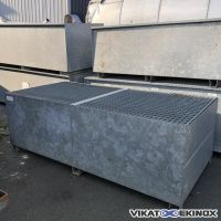 DELAHAYE retention tray in galvanised steel 2500 litres