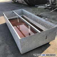 DENIOS retention tray in galvanised steel 1650 litres