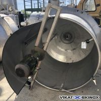 Cuve mélangeuse 2600 litres inox