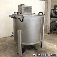 Cuve mélangeuse inox 1500 litres total