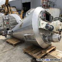NAUTAMIX HOSOKAWA type MBXE 15 R conical screw mixer 1000 litres