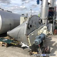 1000 litres NAUTAMIX HOSOKAWA type DBXE 1000 R screw conical mixer