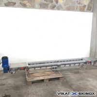 S/S screw conveyor – Lg. 3100 mm