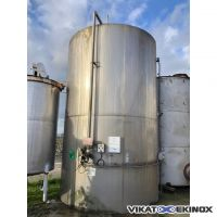 Cuve inox 40 m3 verticale calorifugée