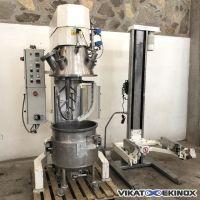 VMI RAYNERI vacuum planetary mixer 100 LITRES type PHEBUS PH1001DT