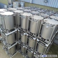 Stainless steel containers 1020 litres