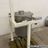 Stainless steel tank on scales 120 litres