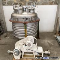 JEAN BERTHIER Agitated Reactor 2940 litres S/S 316Ti