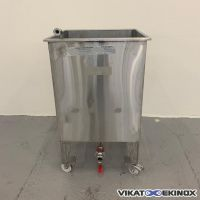 Stainless steel 220 litres tank on wheels