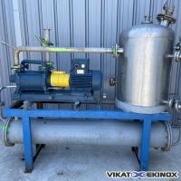 S/S vacuum unit 100 m3/h with tank and exchanger