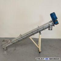 S/S trough screw conveyor  Ø 150 mm