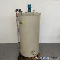 VENTACID PPH plastic mixing tank 1000 litres