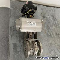 Vanne inox 316 à boule DN50 motorisée MECA-INOX