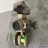 Vanne inox 316 à boule DN40 motorisée