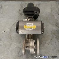 Vanne inox 316 à boule DN40 motorisée MECA-INOX