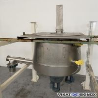 S/S Dosing hopper 340 litres with screw L. 1500 mm