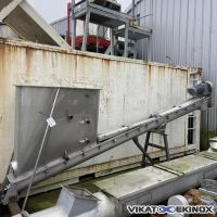 Stainless steel screw conveyor  L. 4500 mm
