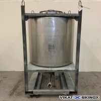 Cylindrical S/S container 1000L