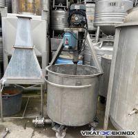 Cuve inox 635 litres agitée