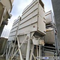Filtre dépoussiéreur 60 m² à poches TORIT DCE type DALAMATIC DLMC 1/4/15