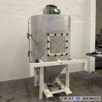 Stainless steel hopper 1650 litres