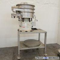 SATIL vibratory separator Ø 710 mm type SAT 08/2 G2 – S/S – 2 decks