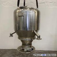 Trémie de dosage inox 700 litres avec vanne ANAG